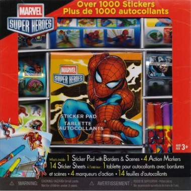 STICKER BOX BILINGUAL MARVEL