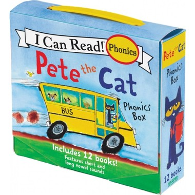 Pete The Cat Phonics Box :Includes 12 Mini-Books Featuring Short and Long Vowel Sounds