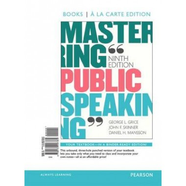 Mastering Public Speaking, Books a la Carte Edition Plus New Mylab Communication for Public Speaking -- Access Card Package