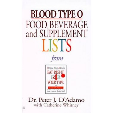 Blood Type O :Food, Beverage and Supplement List