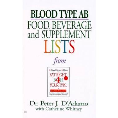 Blood Type AB: Food, Beverage :Food, Beverage and Supplement List