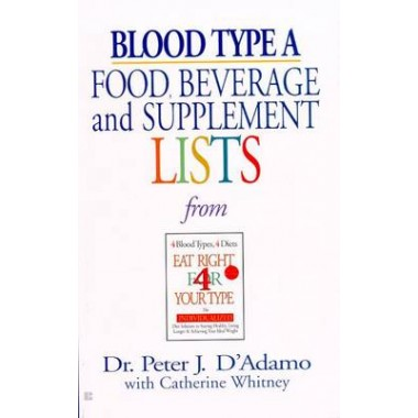 Blood Type A: Food, Beverage & :Food, Beverage and Supplement List