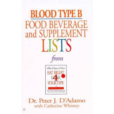 Blood Type B: Food, Beverage & :Food, Beverage and Supplement List