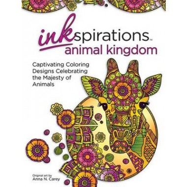 Inkspirations Animal Kingdom :32 Captivating Coloring Designs Celebrating the Majesty of Animals