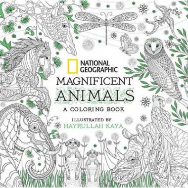 National Geographic Magnificent Animals: Coloring Book