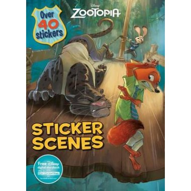 Disney Zootopia Sticker Scenes :Over 40 Stickers
