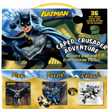 Batman Caped Crusader Adventure :Activity Book and 2-in-1 Jigsaw Puzzle