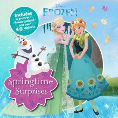 Disney Frozen Springtime Surprises :Includes a Press-Out Flower Garland and Over 40 Stickers!