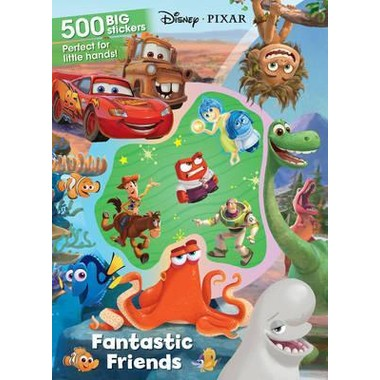 Disney Pixar Fantastic Friends :500 Big Stickers