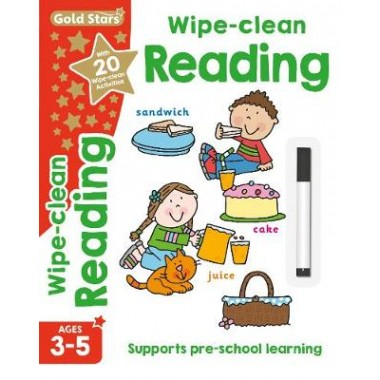 Gold Stars Wipe-Clean Reading Ages 3-5