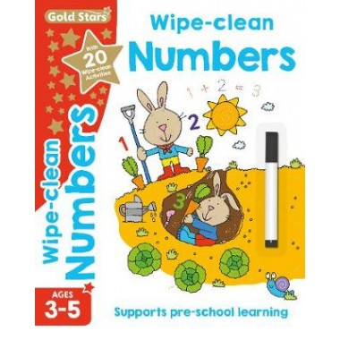 Gold Stars Wipe-Clean Numbers Ages 3-5