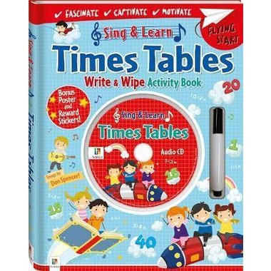 TIMES TABLES WITH WRITE AND WIPE ACTIVIT