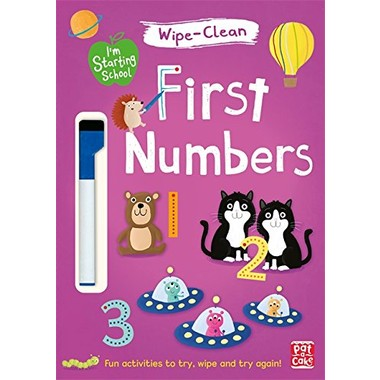 I'm Starting School: First Numbers :Wipe-clean book with pen
