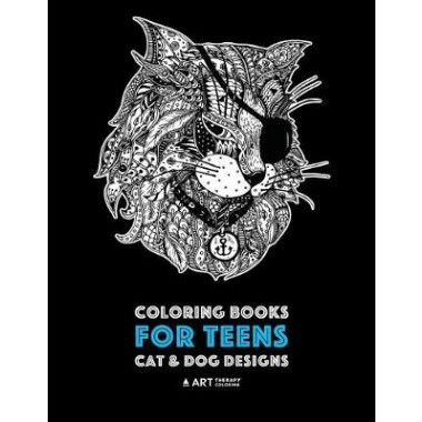 Coloring Books For Teens Cat Dog Designs Detailed Zendoodle