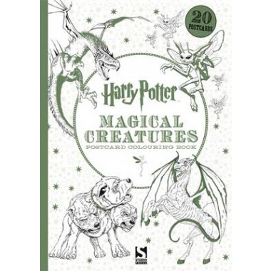 Harry Potter Magical Creatures Postcard Colouring Book 20 Postcards To Colour