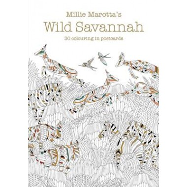 Millie Marotta's Wild Savannah Postcard Book :30 beautiful cards for colouring in