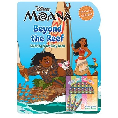 DISNEY MOANA BEYOND THE REEF COLOURING B