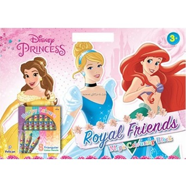 DISNEY PRINCESS ROYAL FRIENDS MEGA COLOU