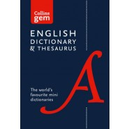 Collins English Dictionary and Thesaurus Gem Edition :Two Books-in-One Mini Format