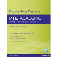 PRACTICE TESTS PLUS FOR PTE ACADEMIC BOOK W/AUDIO CD (W/KEY)