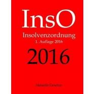 Inso 2016, Insolvenzordnung, Aktuelle Gesetze, 1. Auflage 2016