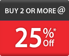 Buy 2 or more @ 25% off